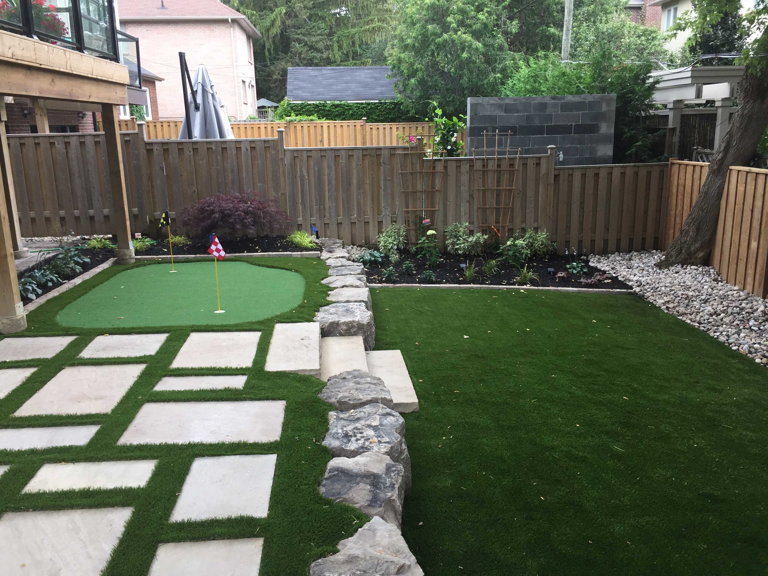 PUTTING GREEN - after