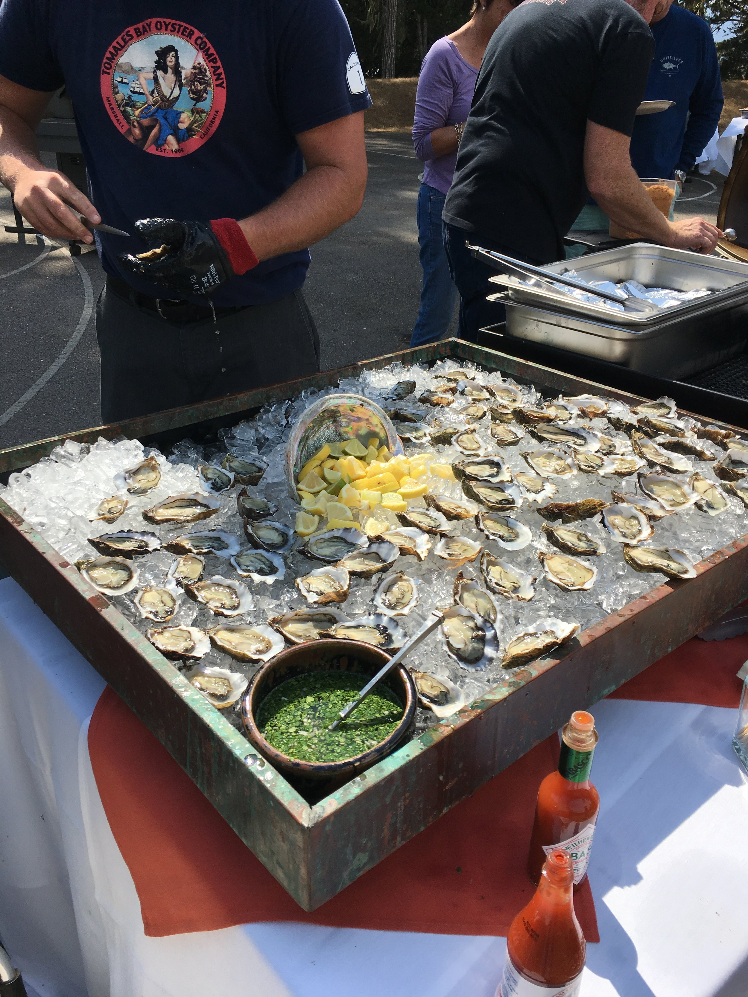 Coast Clean Up on Tomales Bay 2017. Oyster BBQ For Volunteers. Photo Credit Remy Galvan Hale:Hog Island Oyster Co.jpg