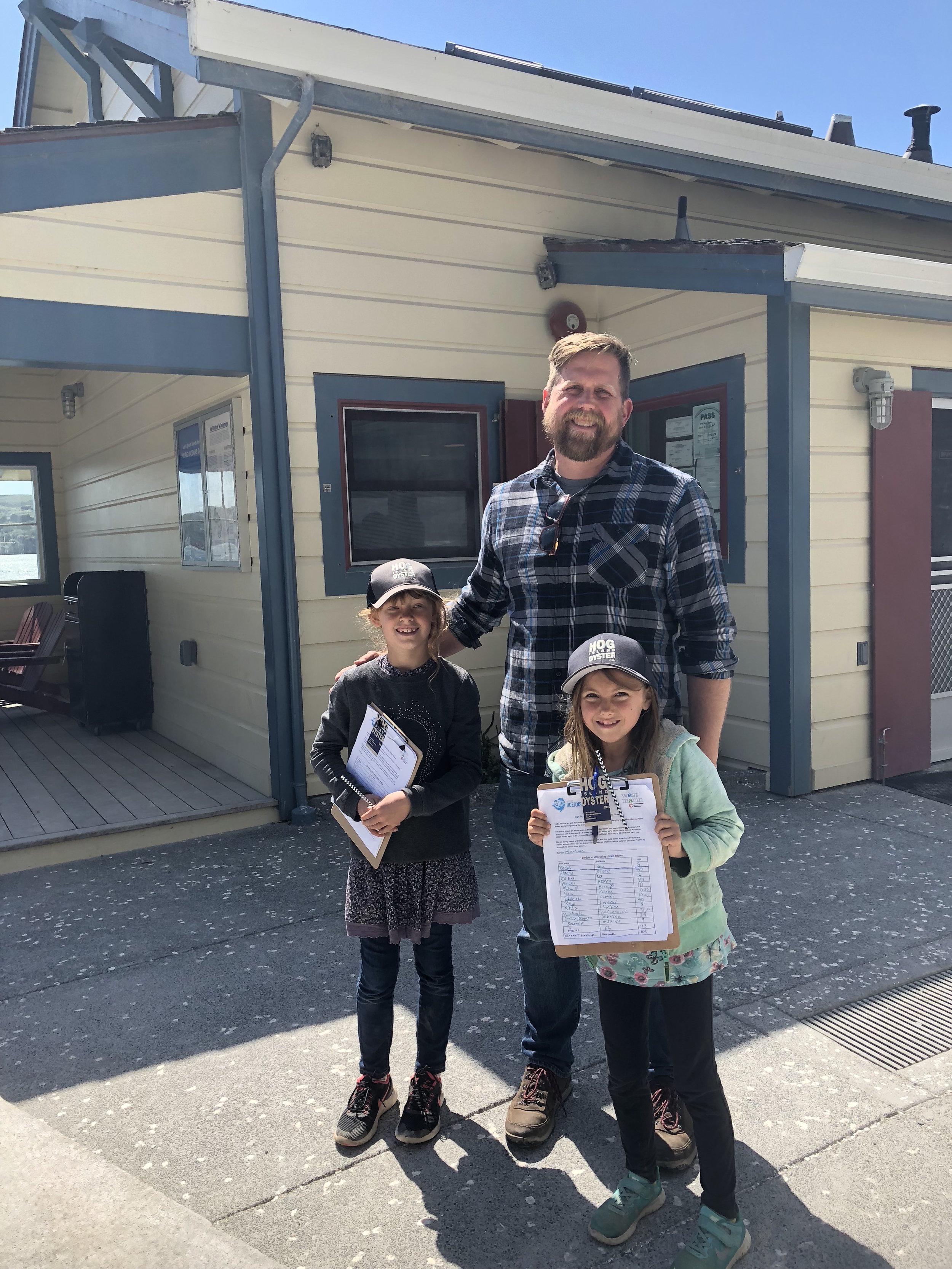 Viola and Reese Hog Island May 2018