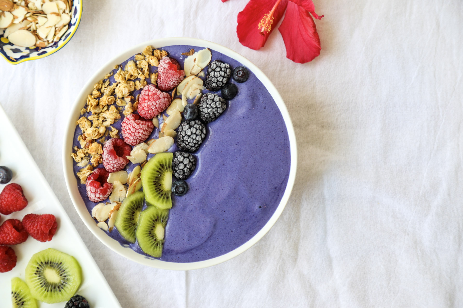 Butterfly Pea Tea Smoothie Bowl