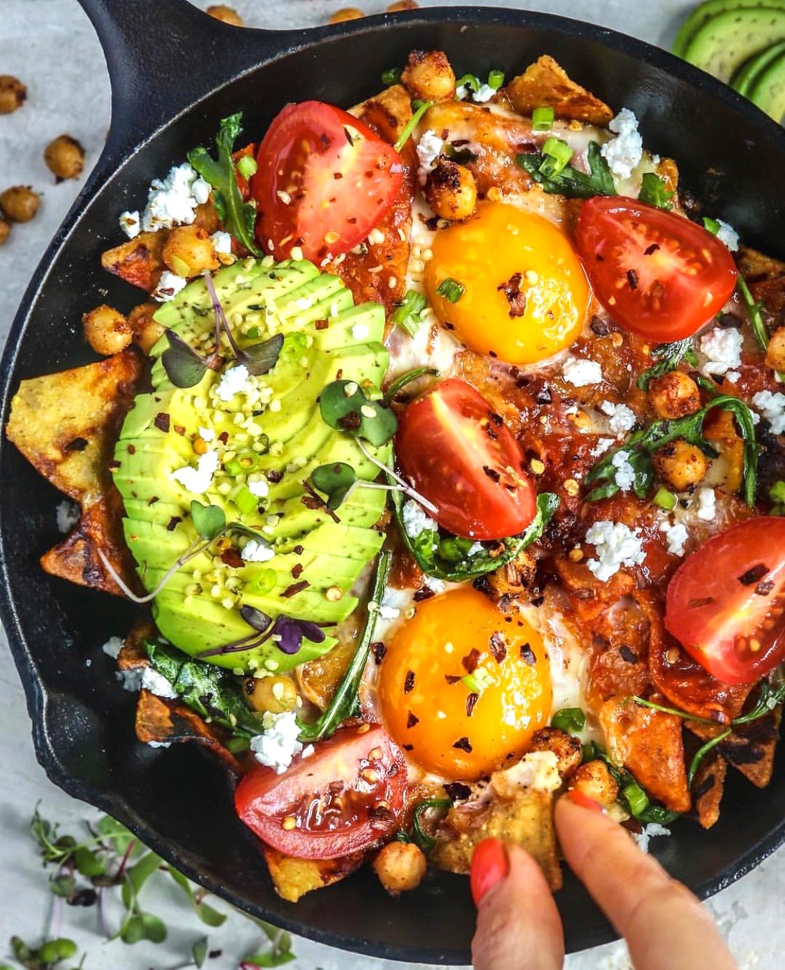 chilaquiles eggs
