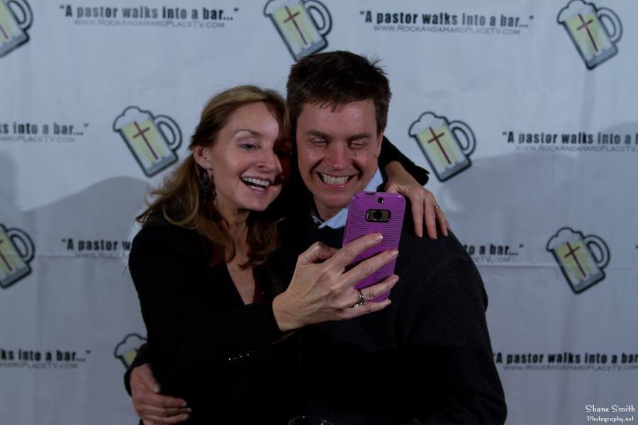 With Jim Breuer at Rock & a Hard Place Wrap party.jpg