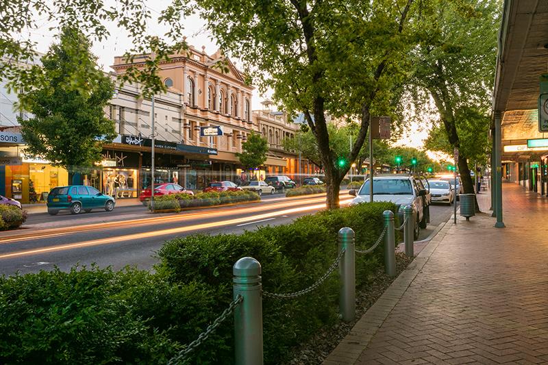 Orange Main Shopping Street