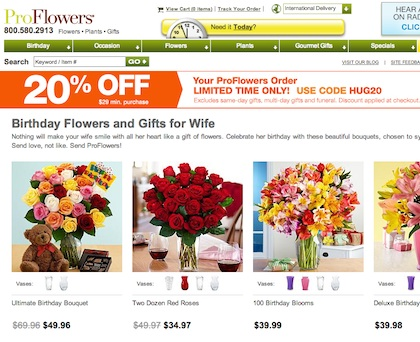 """""""Proflowers.com is one of the most successful e-commerce companies and we owe a good part of that success to the user-experience processes and designs that Larry and his team provided.  — Bill Strauss, President, Proflowers"""