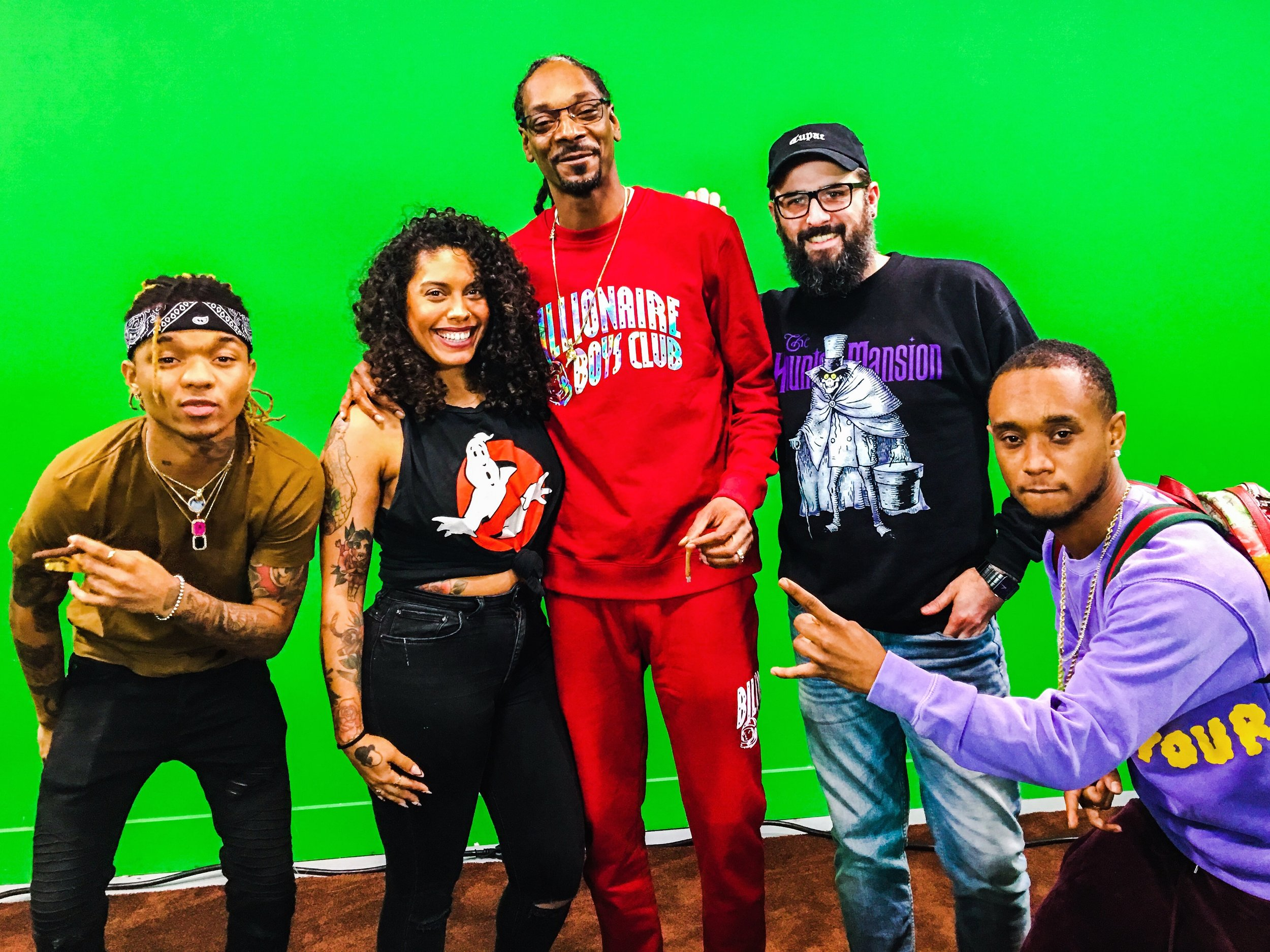 On set of GGN with Rae Sremmurd & Snoop Dogg