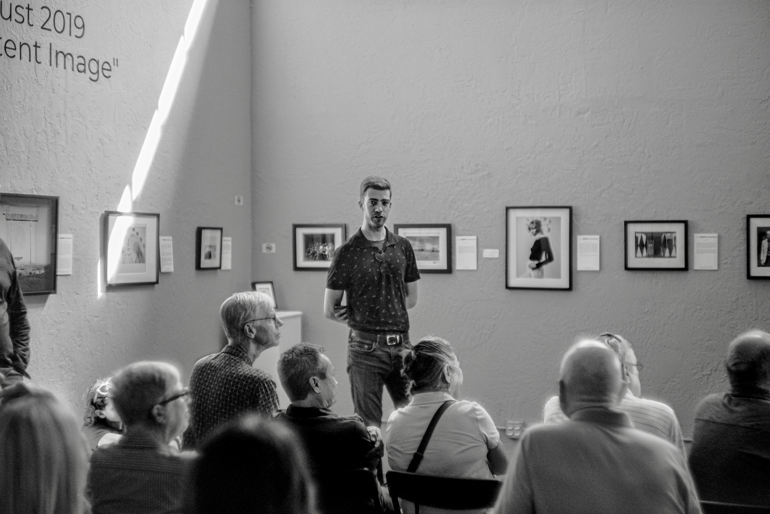 Presenting work from  Maria & Aidan  at Sparrow Gallery in Sacramento, Ca., August 2019. Photograph by Hector Gonzalez.