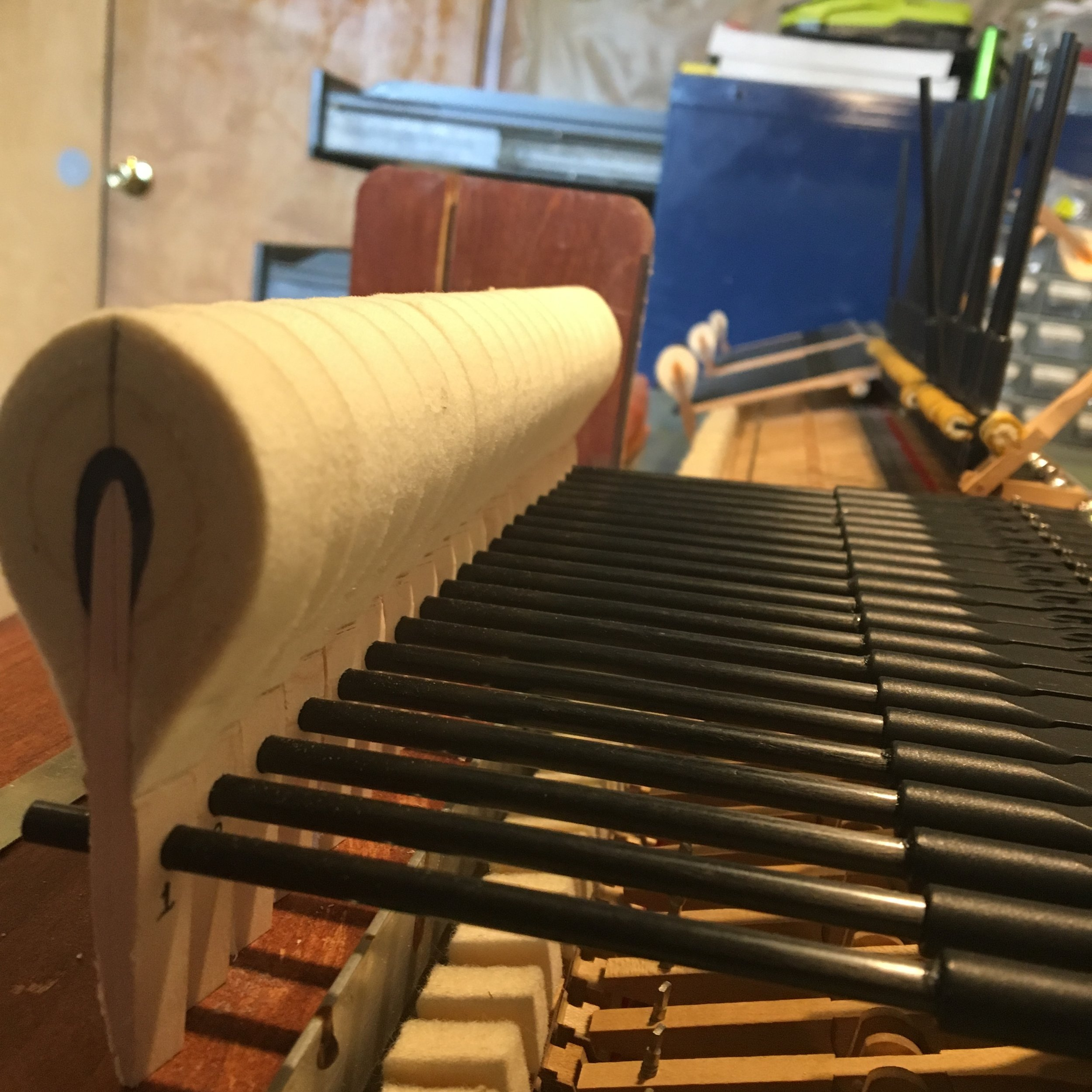 Installing new hammers on WN&G High Performance carbon fiber shanks.