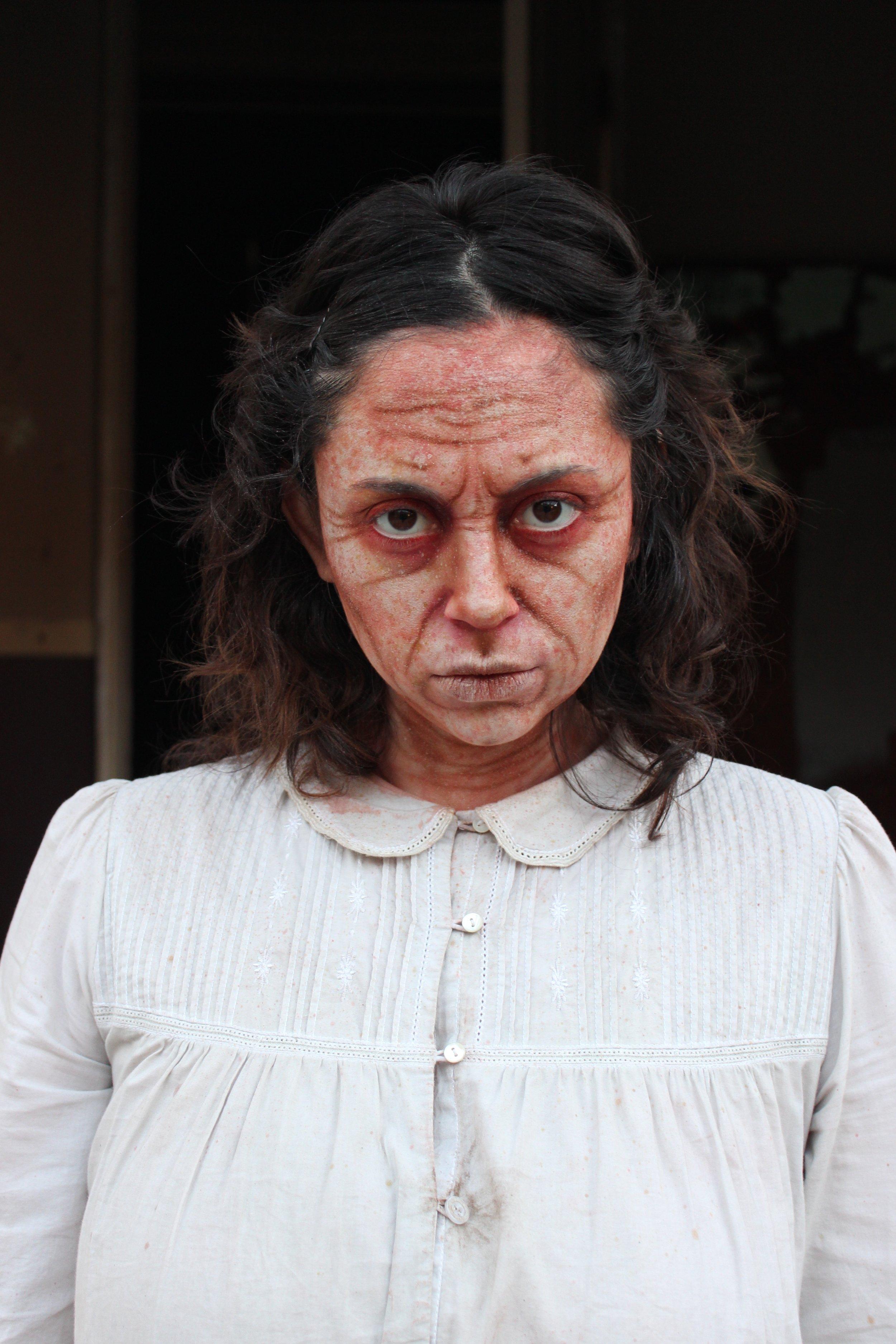 Warner Bros Studio Tour Hollywood- Horror Made Here, 2017  Production: Warner Bros Studios & Planet C  Makeup Dept. Head: David Wooddruff  Actress: Maxine Brumer  Makeup provided by EBA Performance Makeup