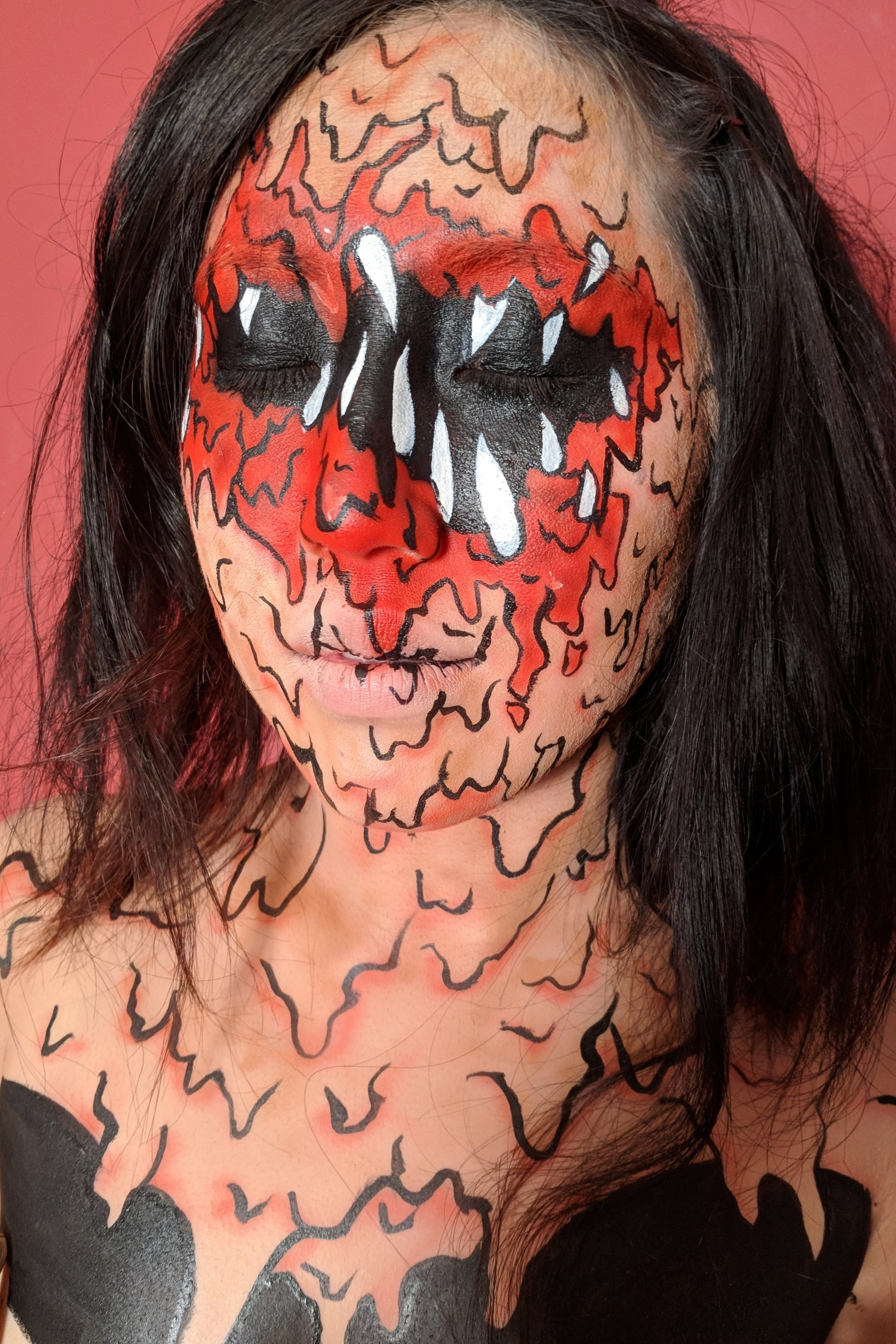 FunnySkullGrin Body Paint, 2018  Model: Kate Le  Photographer: Crista Llewellyn  Makeup provided by: European Body Art and Wolfe Art Fx