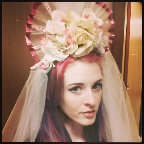 Avenue Q, 2012 San Francisco State University Director: Laura Shultz Designer: Myself  Wedding headdress/veil  created from scratch