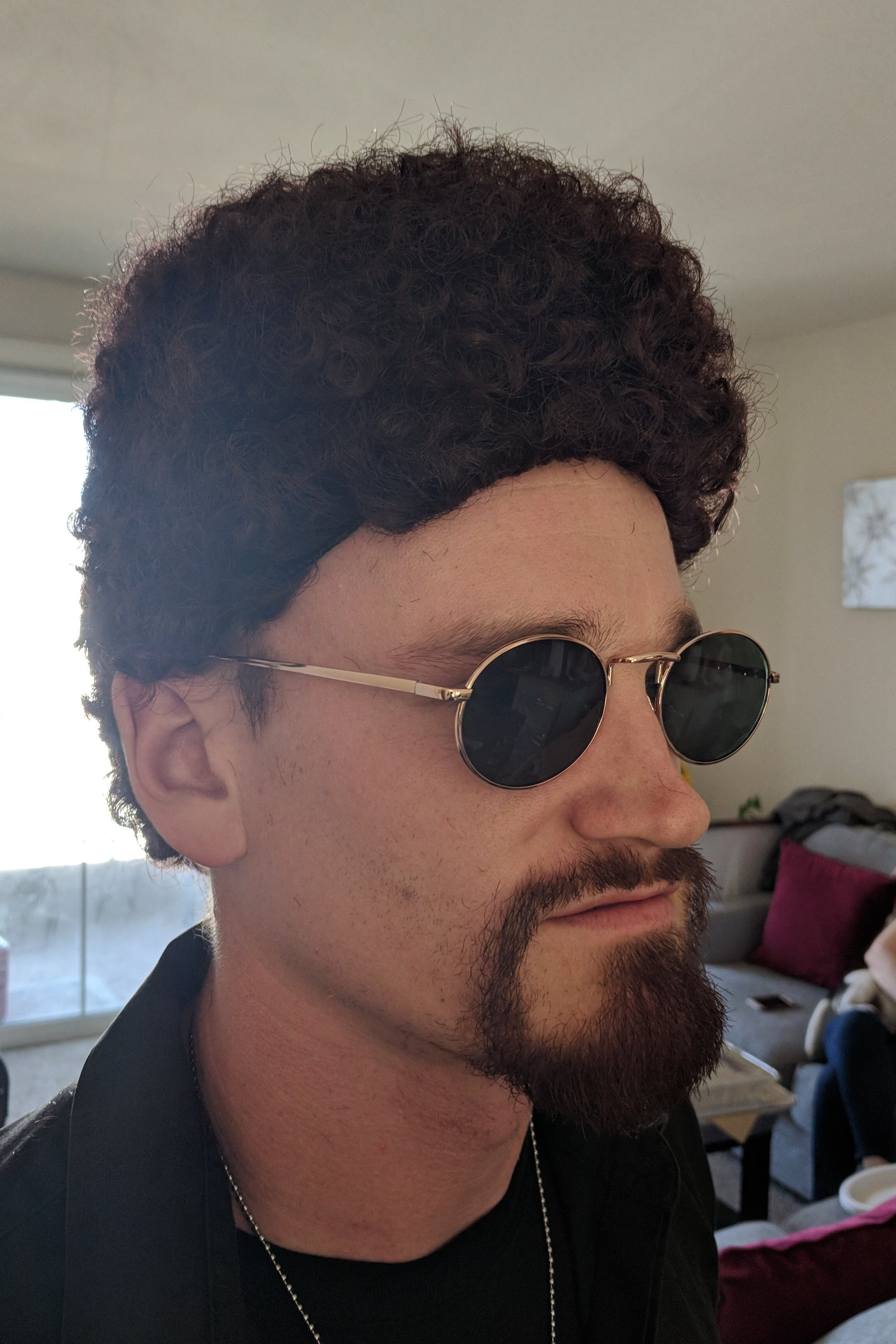 Tik Tok, 2018 Director: R. J. Blake Actor: J Norman Riley   Synthetic afro wig cut into a semi flat top
