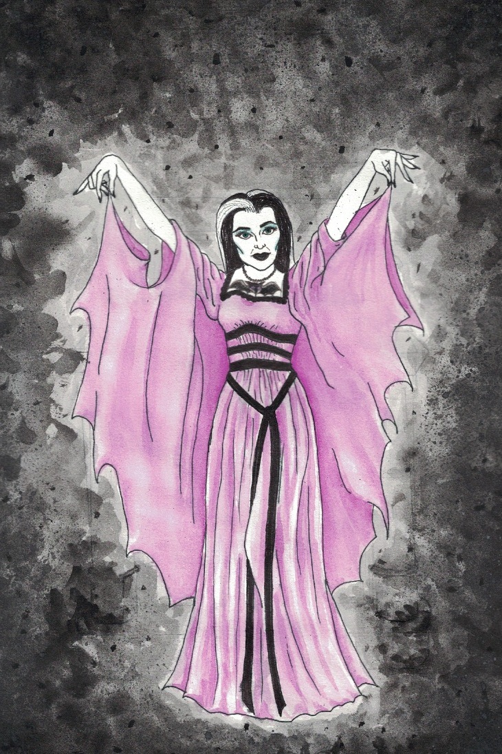 Lily Munster, 2014  Watercolor and ink on paper