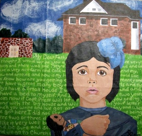 The Face of Assimilation, 2009  Acrylic on cardboard