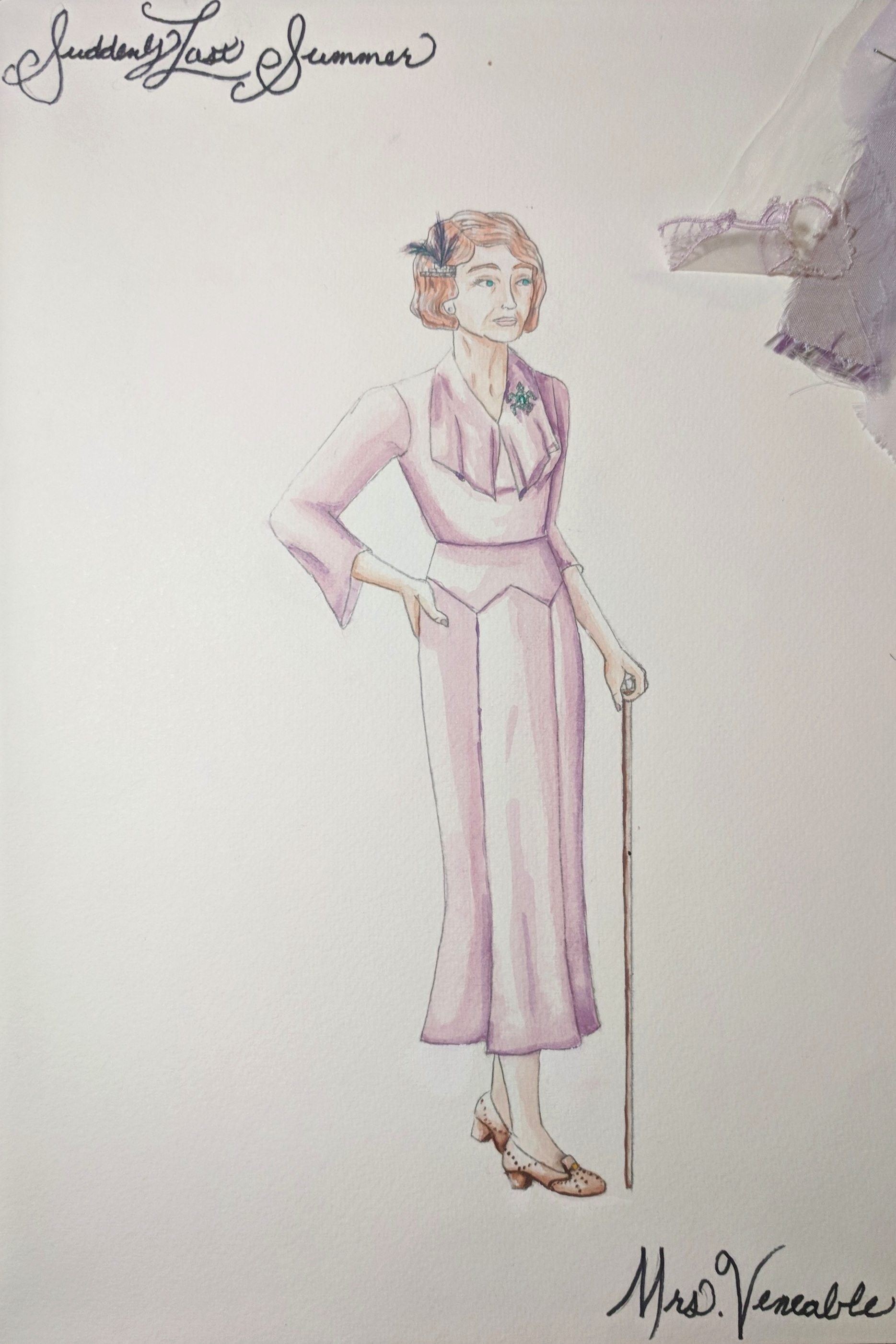 San Francisco State University, 2011  TH A 411 Costume Design for Stage and Screen  Suddenly Last Summer