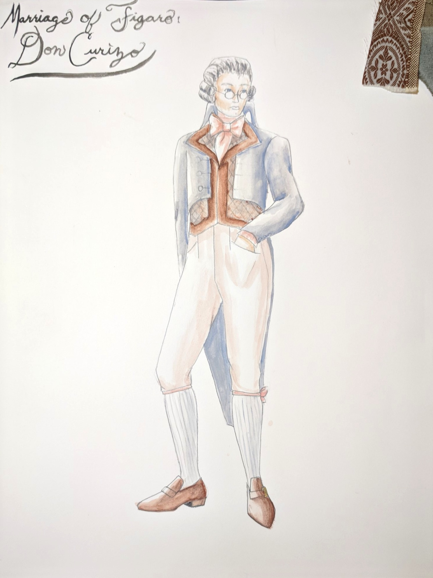 San Francisco State University, 2011  TH A 411 Costume Design for Stage and Screen  Marriage of Figaro