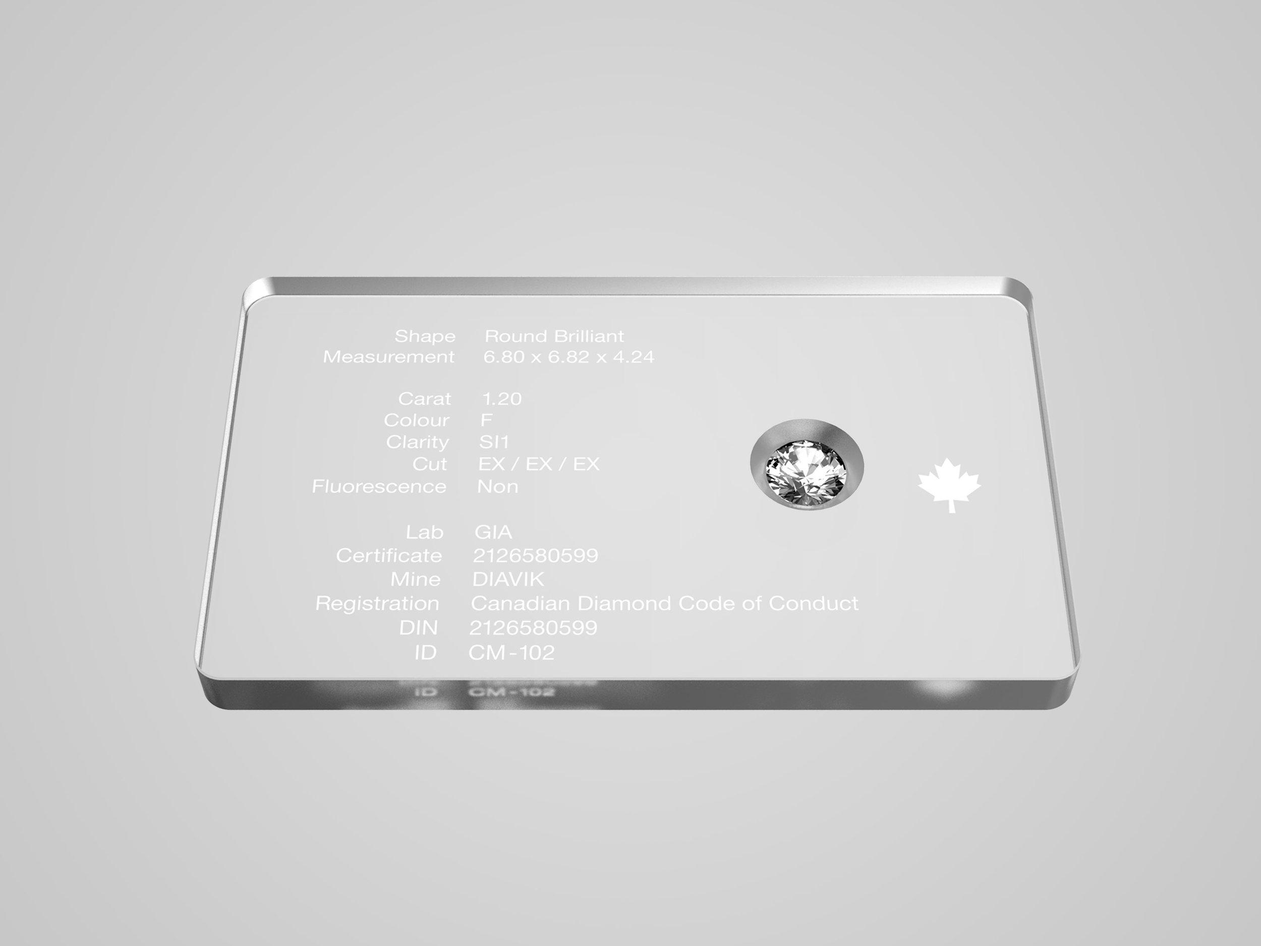 Vantyghem Diamonds - Diamond Authentication Plate System