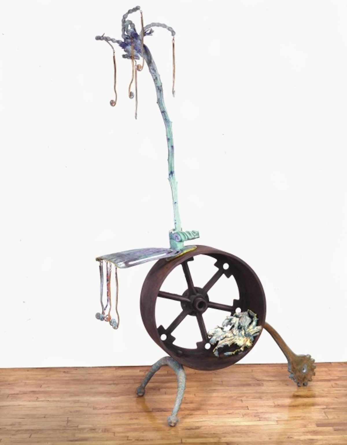 "Uplift , 1986. Bronze, cast iron with polychrome patina. 80"" x 50"" x 23"""