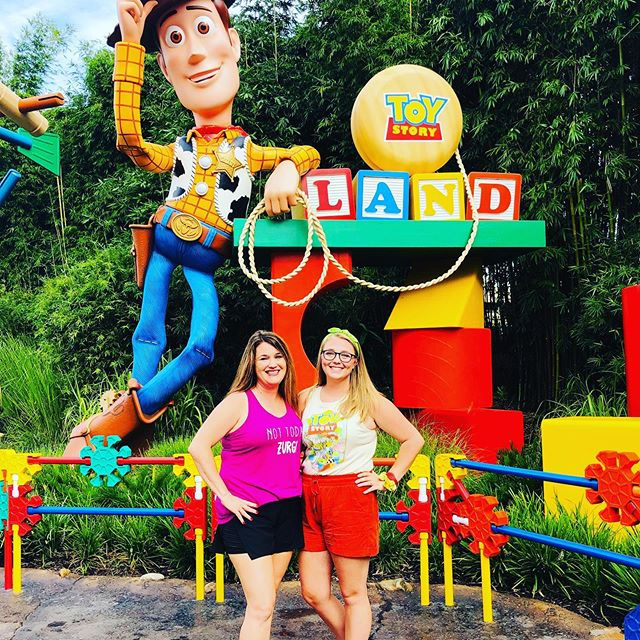 Toy Story Land is pretty dang awesome! It's so colorful and adorable and all the Cast members use words that indicate you are a toy... it's Ree-dic-u-lusly adoreable!! We left early because of tired bodies and achy feet but we! did! It! All Baby!!!! Plus any day with Emma @tarynintotravel is going to be amazing and full of laughs💗#disneyshollywoodstudios #hollywoodstudios #disneymagic #disney #disneyworld #orlando #florida #magickingdom #mousehouse #toystory #woody #bopeep #buzz #toi finityandbeyond #selfieswithjohn #guybehindthemagic #snakeinmyboot #slinkydogdash #slinkydog #jessie