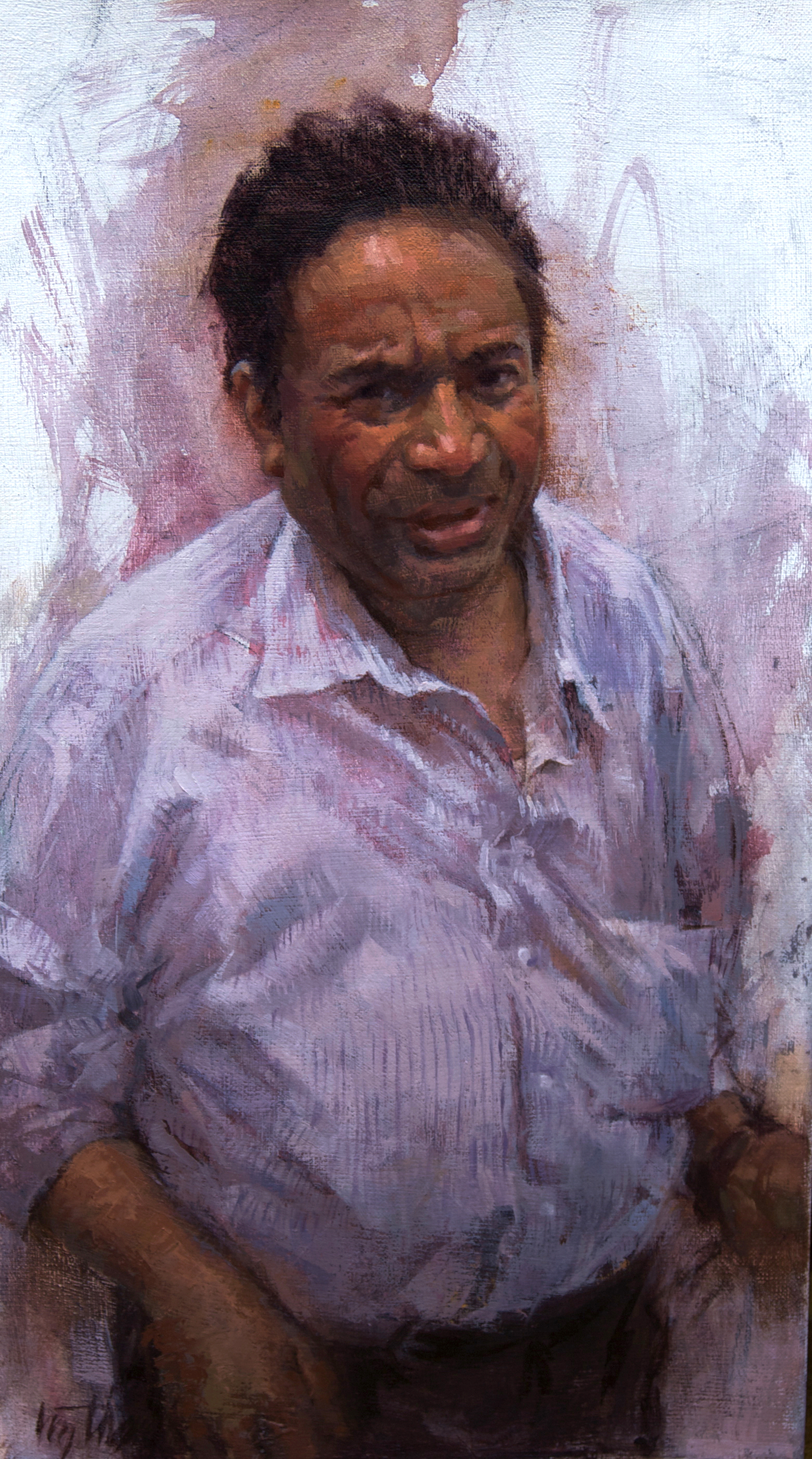 "Tony    8x15""   oil          BP Portrait Award 2012"