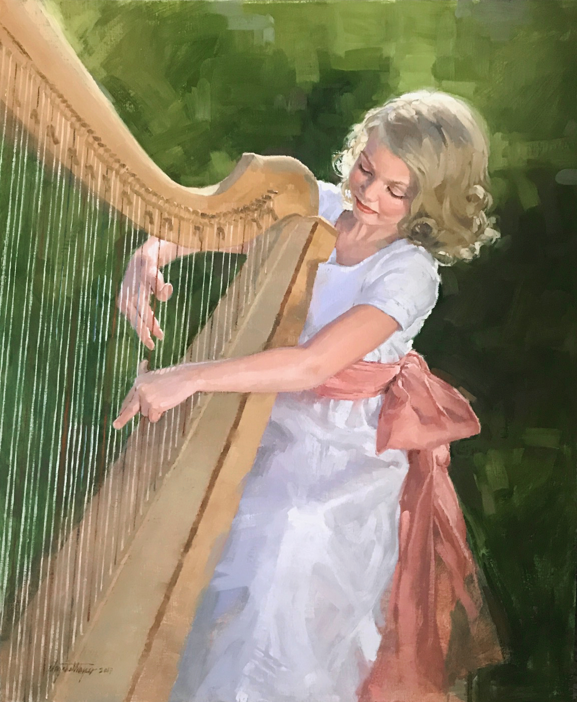 Emme's Harp   16x20  oil