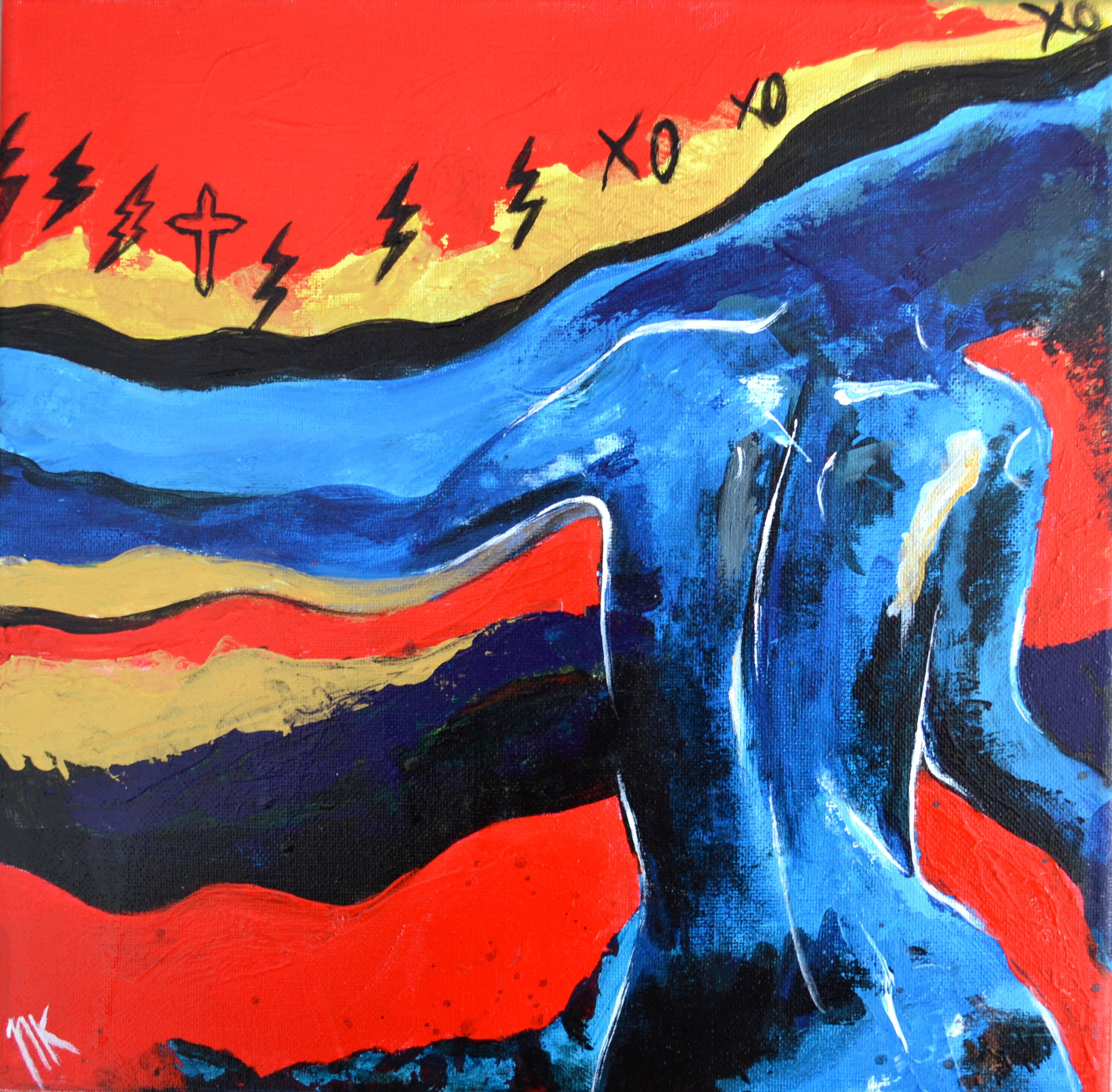"""STARGIRL""  12"" x 12"" Acrylic on Canvas"