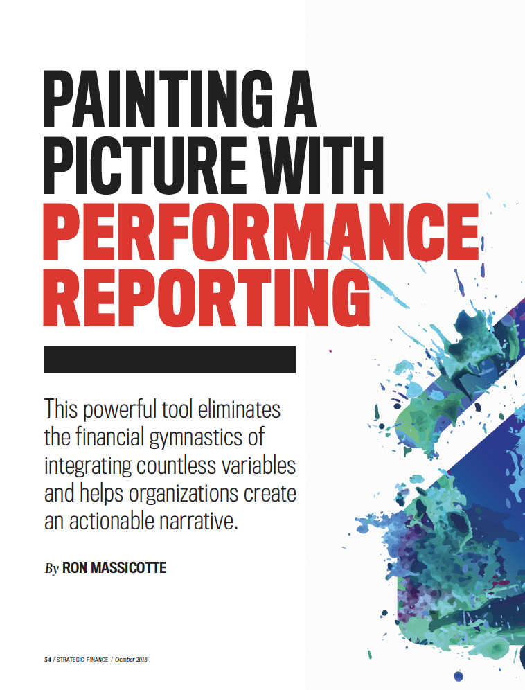 Painting a Picture with Performance Reporting