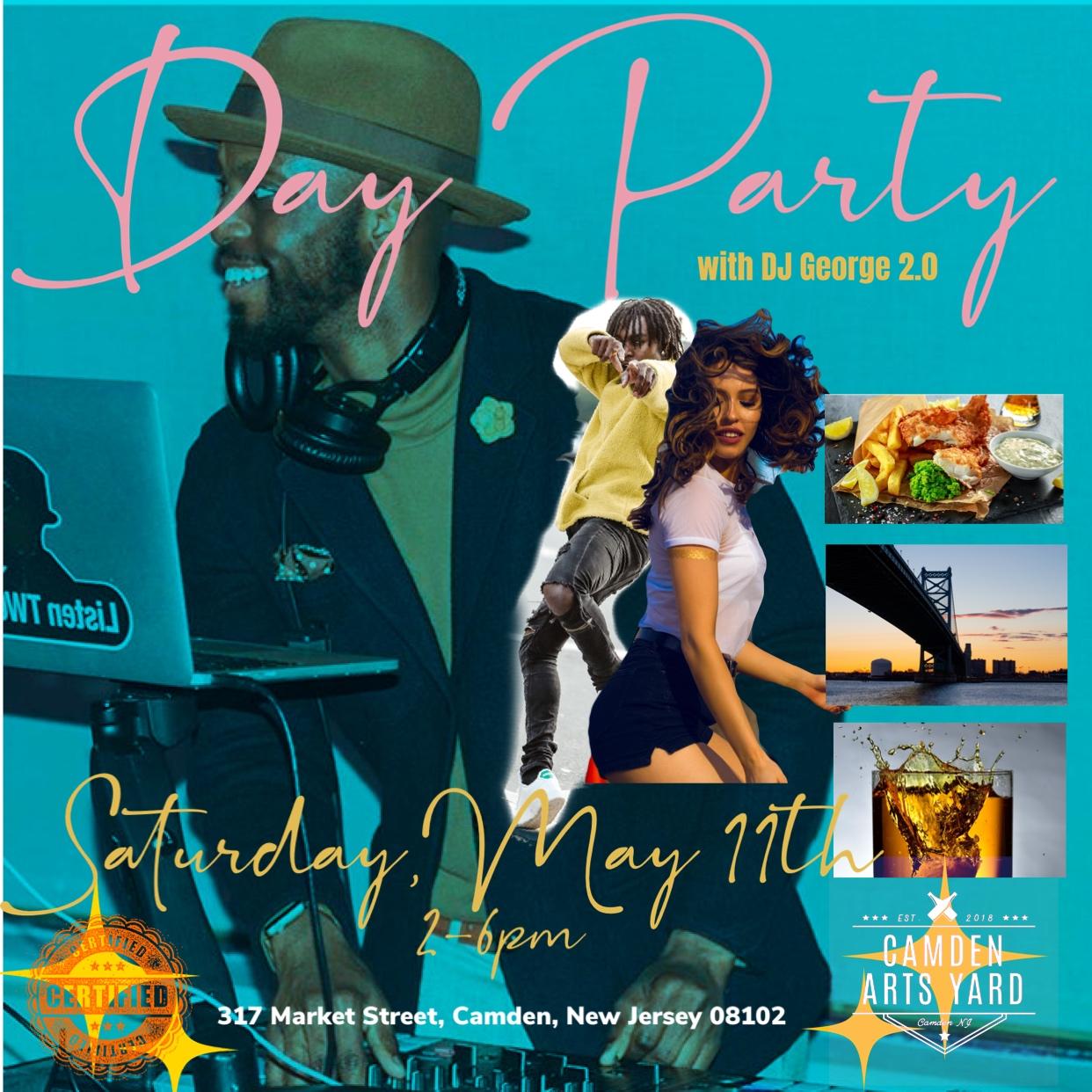 Day Party Flyer Camden Arts Yard