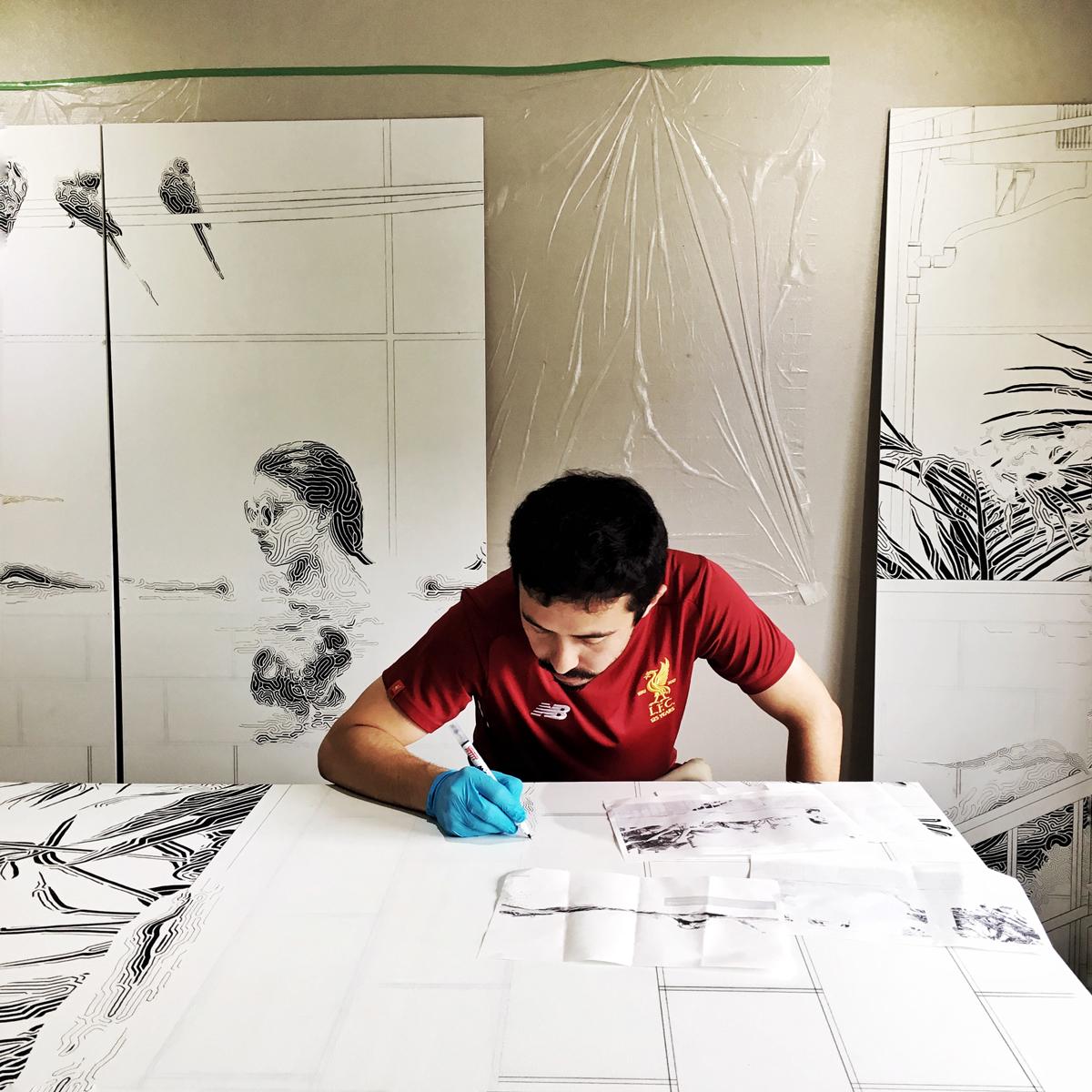作業中 - at work