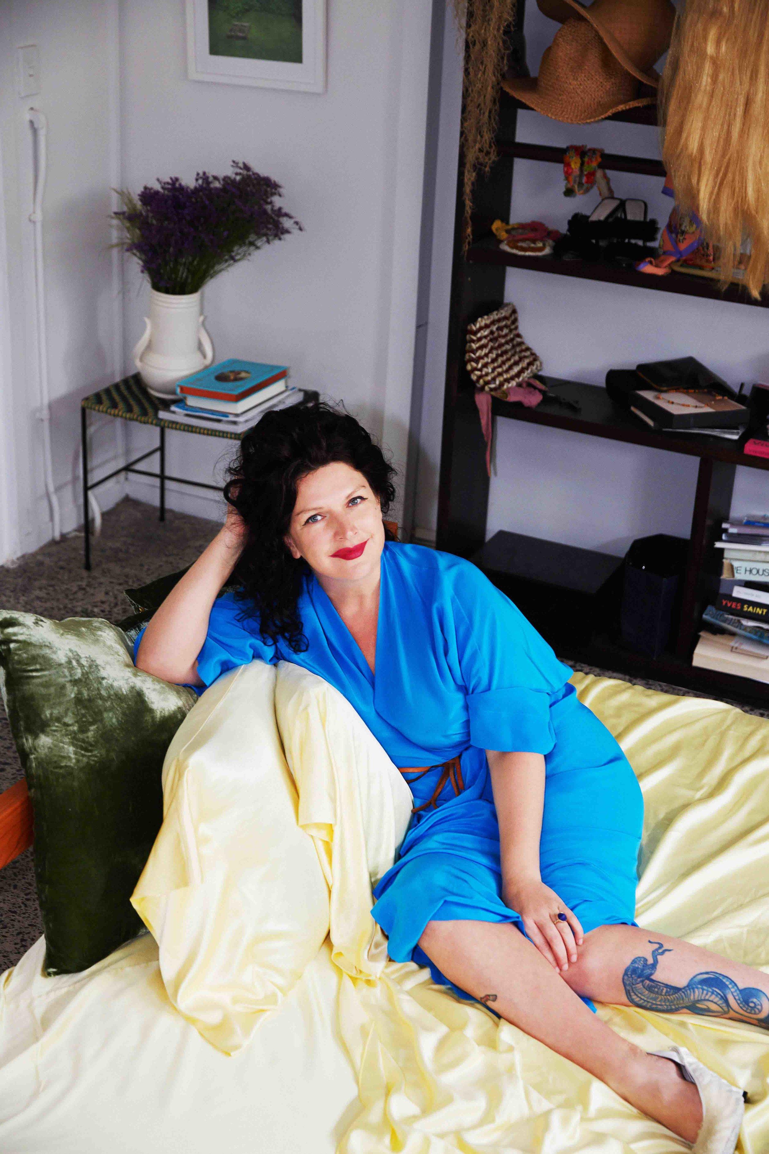 Fashion designer Kristine Crabb