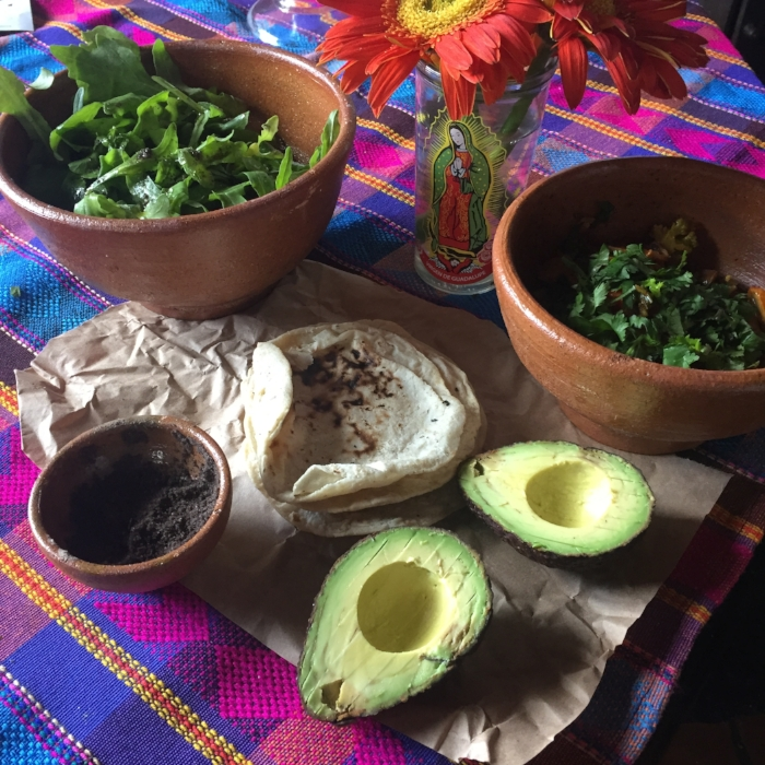 Slow food at Vida Despacio Antigua.  Fresh local ingredients minimally prepared and served with hot fresh corn tortillas.