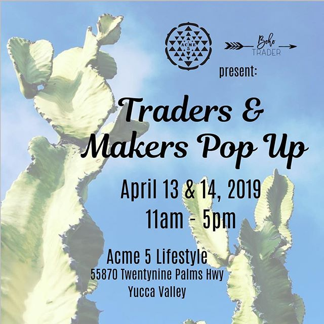 Looking forward to this weekend's Pop Up in Yucca Valley. We'll be out trading goods from our favorite makers. Check out ethical fashion from @dalua_reluce, @consciousconvergence and @alma.losangeles popping up in the Boho Trader booth. . . . #tradersandmakers #guatemalantextiles #handmade #textilejunkie #hechoamano #upcycledclothing #yuccavalley #mojavedesert #mojaveflea #deserttime #popupshop