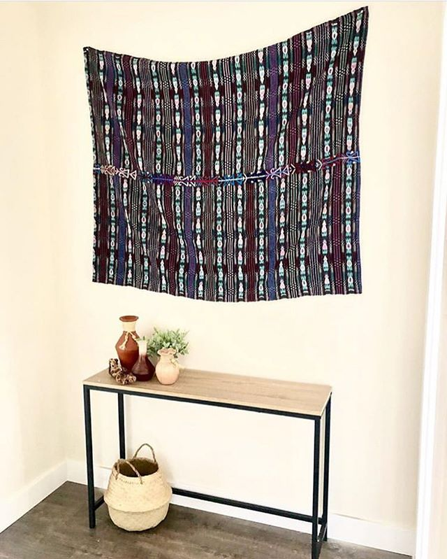 We love how @thebohemianjoshuatree styled our vintage Guatemalan tapestry. We have a huge stack of vintage tapestries for the Traders and Makers Pop Up this weekend @acme5yuccavalley  Via @thebohemianjoshuatree . . . #tradersandmakers #yuccavalley #mojavedesert #popupshop