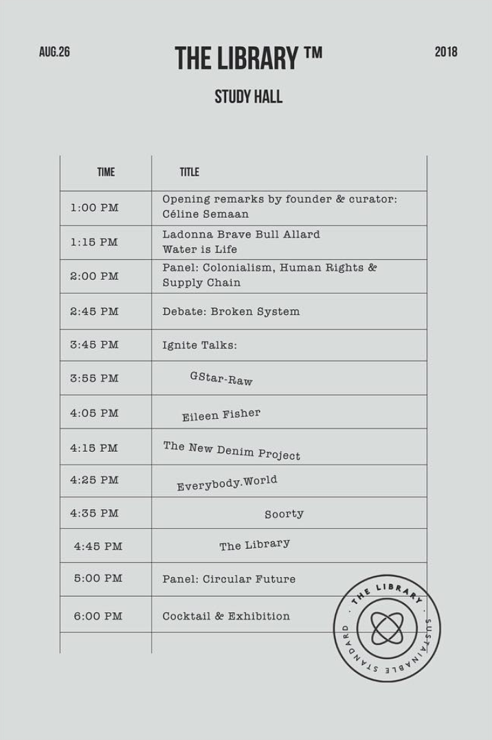 The Library Study Hall Schedule at Ace Hotel.