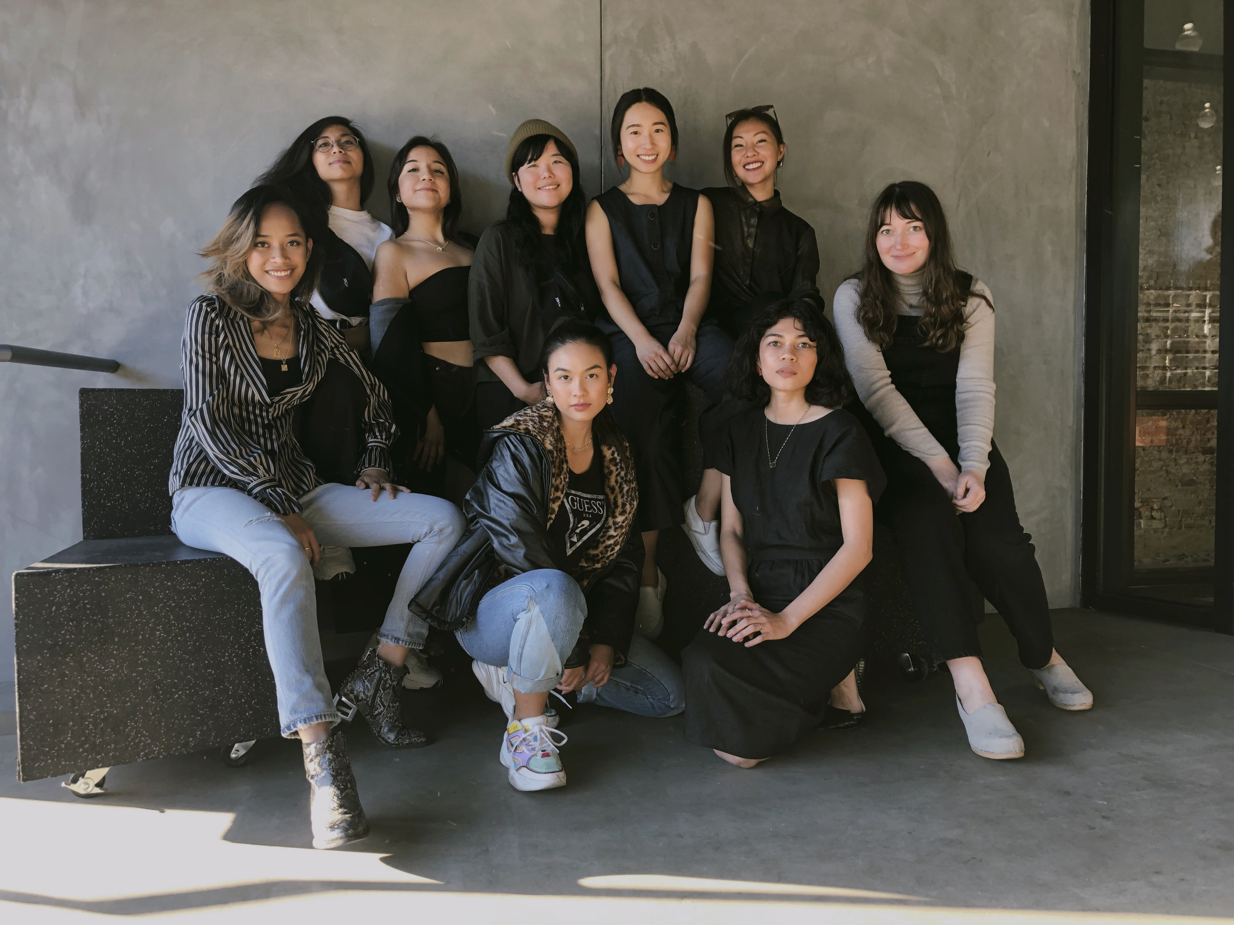 (Top left to bottom right) Avery Antonio, Mayra Moran, Jenny Nayoung, Sarina Ho, Tiffany Wong, Indah, Adi Alice, Diane Diaz, Alyssa Julian. (Taken by: Christopher Caspe)