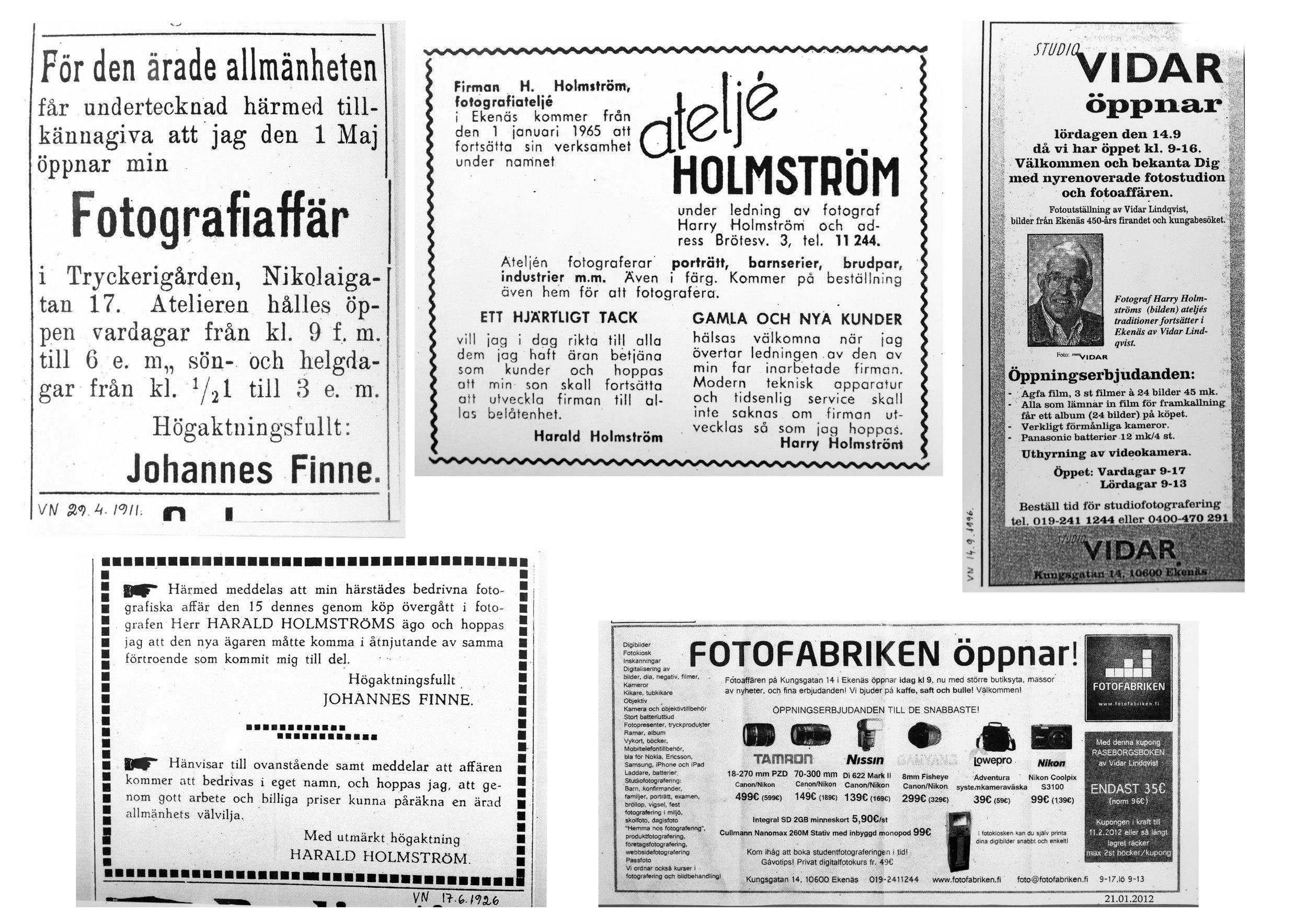 Några tidningsutklipp 1911-2012