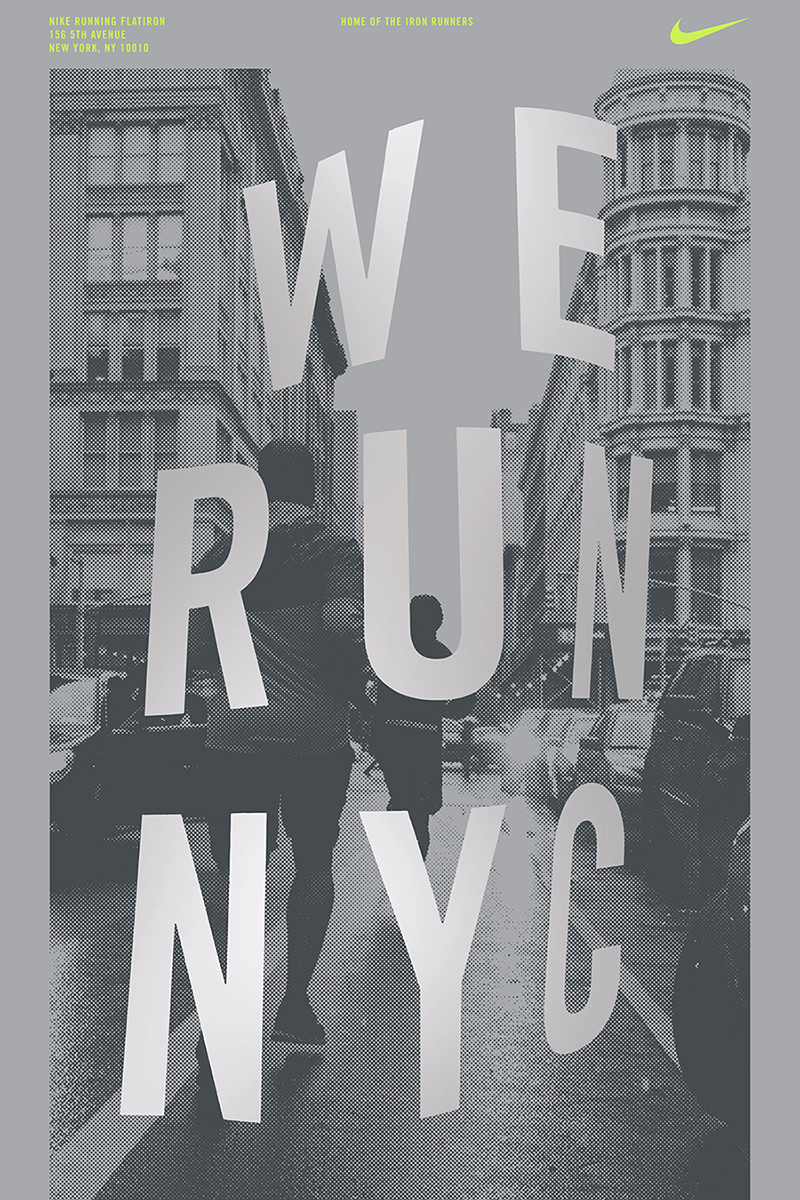 Poster series for the Flagship NYC Flatiron Nike Store