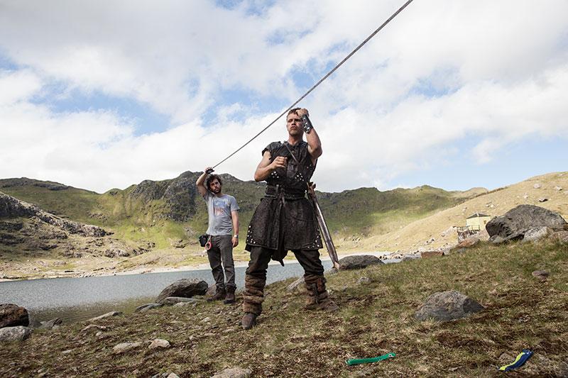 Charley Bewley in Hammer of the Gods. Dir: Farren Blackburn. Vertigo Films.
