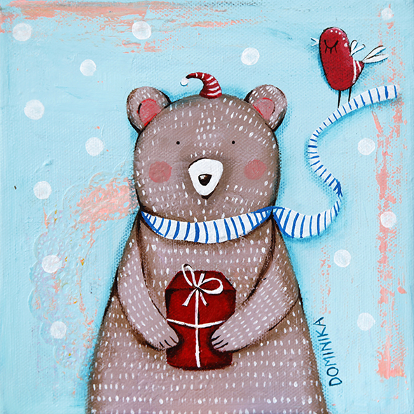 Bear with the Christmas gift ~ Dominika Bozic ~ 2013
