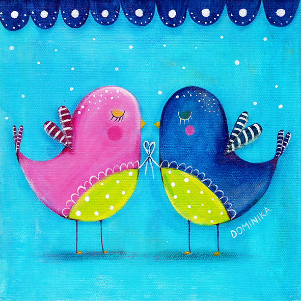 Love birds ~ Dominika Bozic ~ 2013