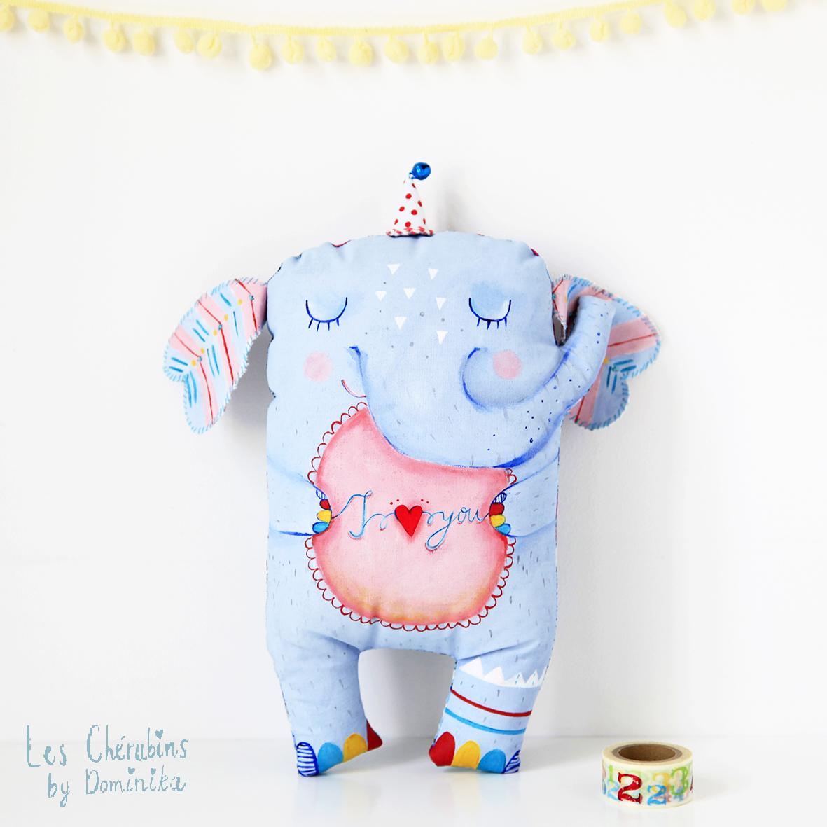 """hand painted toy """"Elephant Bibi"""""""
