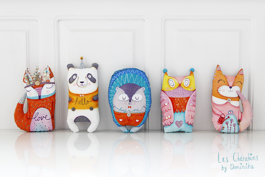 "hand painted toys ""Winter collection"""
