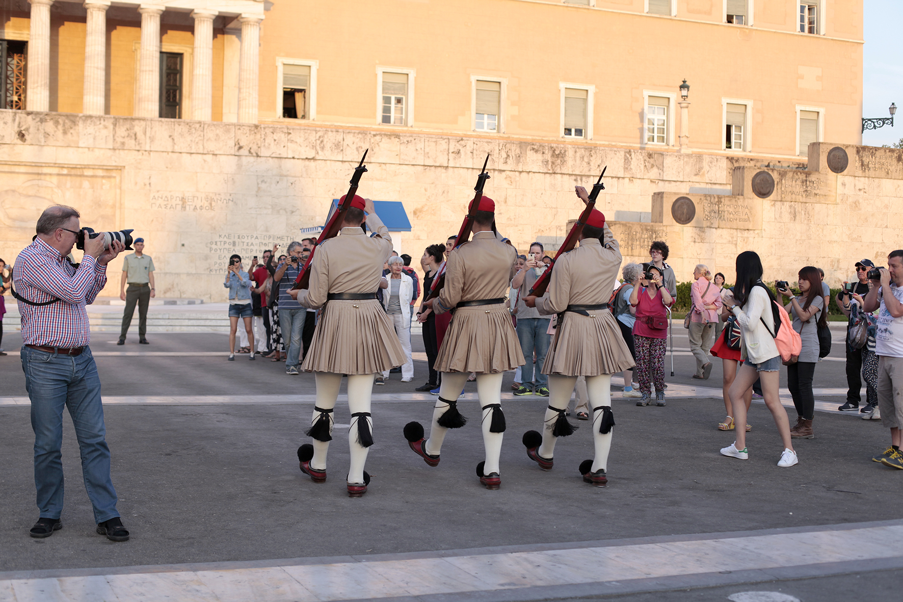 Guards in front of the Parliament