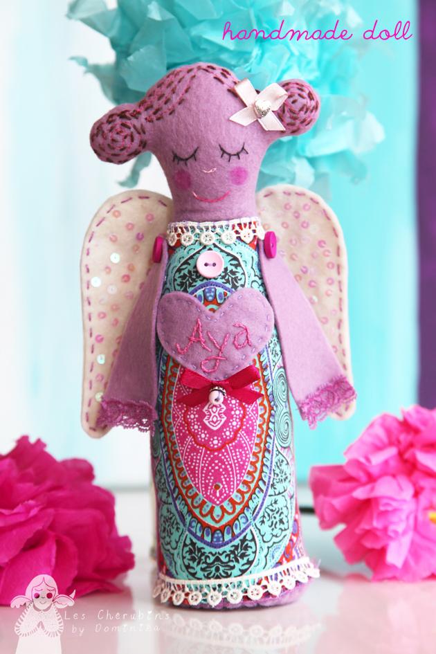handmade angel doll by Dominika Bozic