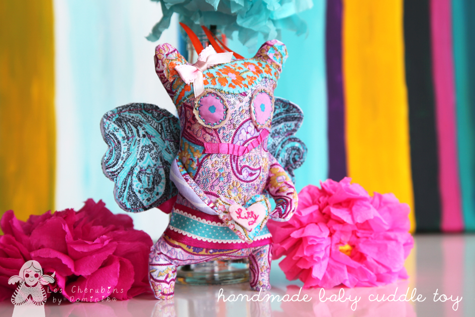 handmade baby cuddle toy by Dominika Bozic