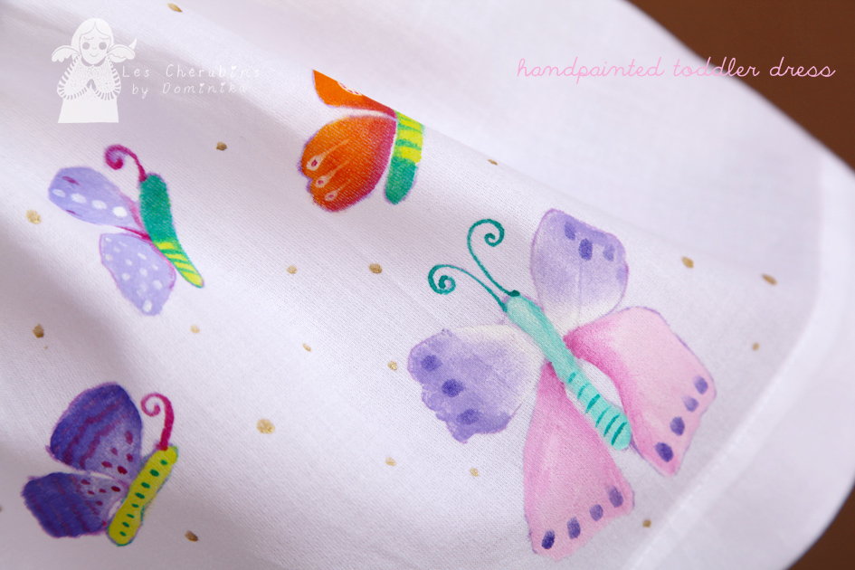 Hand painted toddlers dress by Dominika Bozic