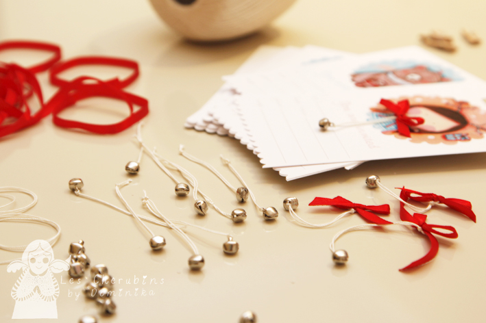 making bows with little bells