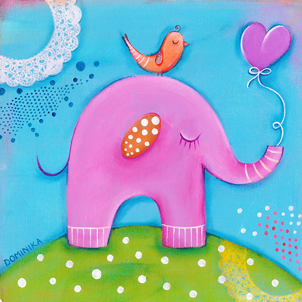 Pink elephant ~ by Dominika Bozic ~ 2015