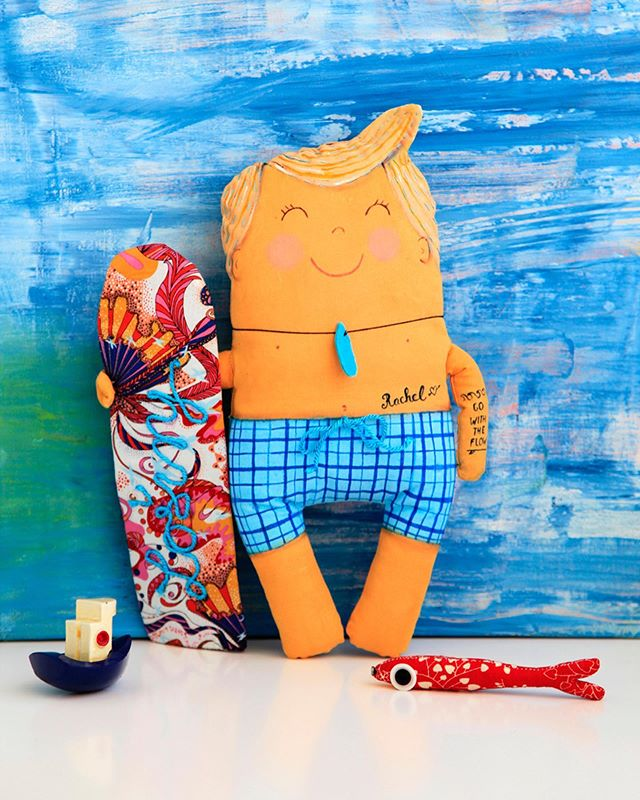 Custom toy/decor as souvenir from Losinj 😊 #souvenirfromlosinj #customtoy #lescherubinsbydominika #go2losinj #golosinj #customtoy #surfertoy