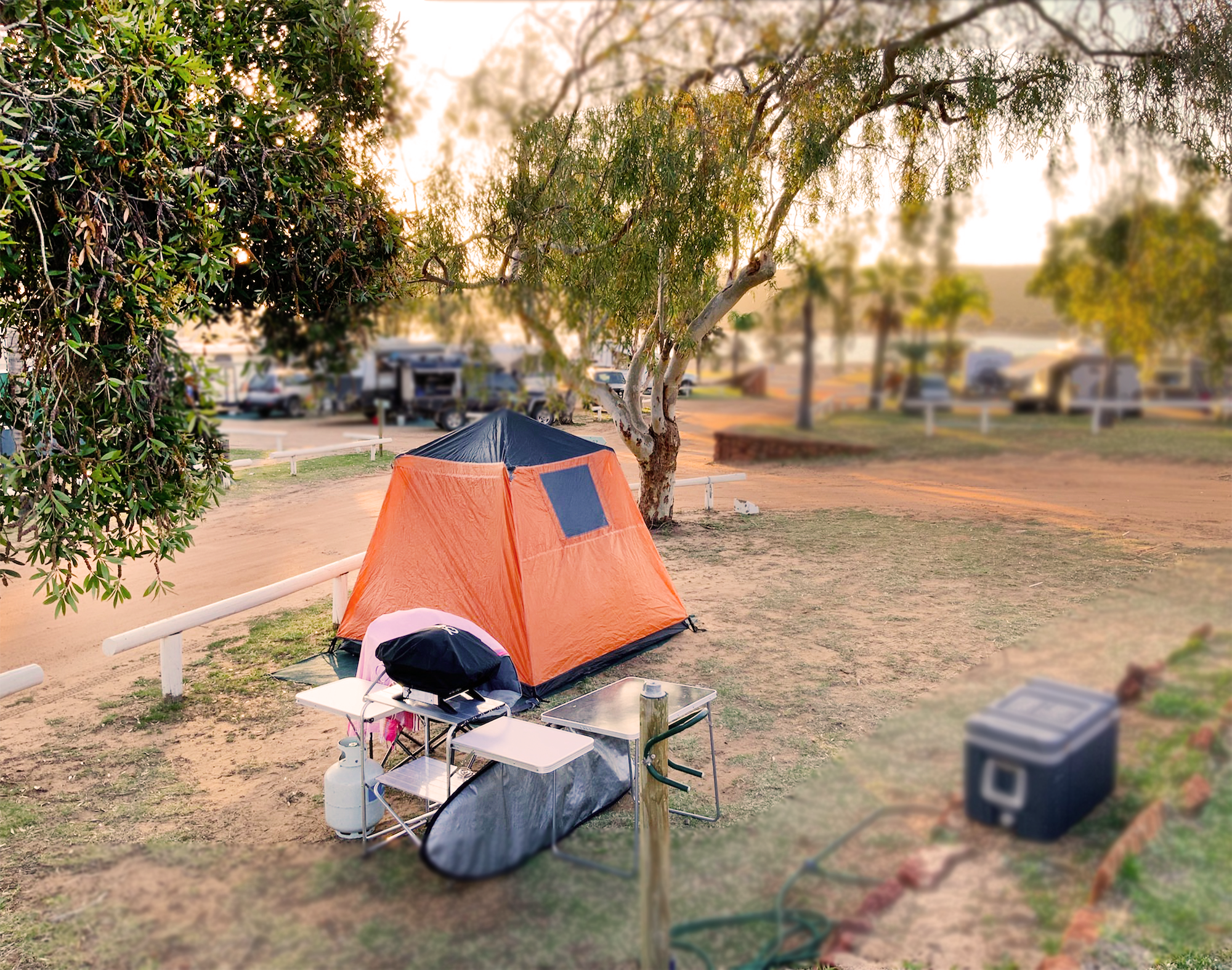 Camping - Wake up to the rustic sound of the bird warbles and the opening of zips in our standard non-powered sites.$38 / two guests per night$30 / single guest per night
