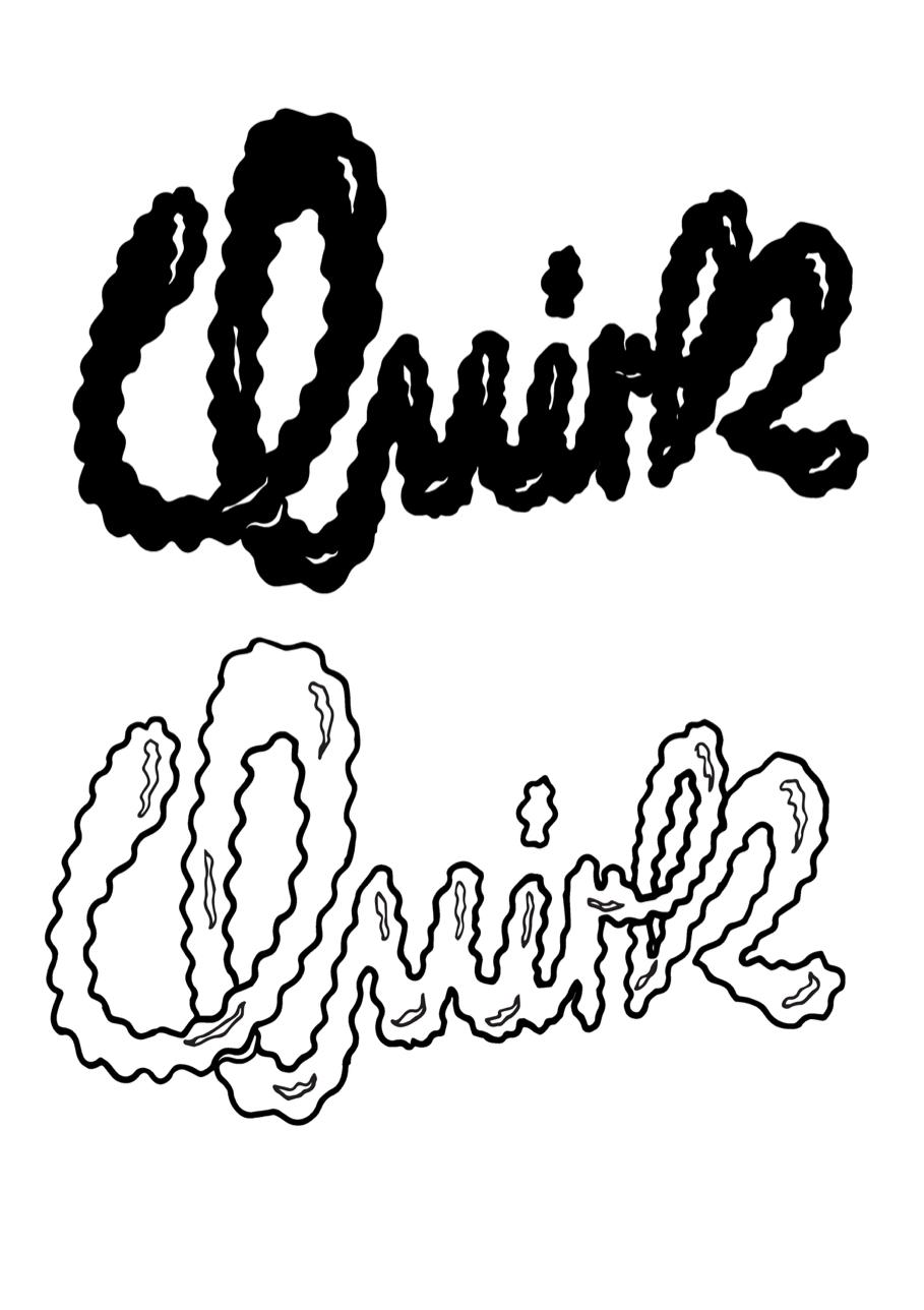Typography illustration development Lisa O'Hara
